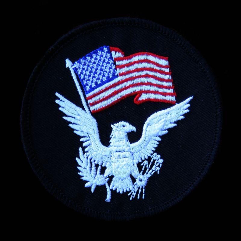 画像1: ワッペン アメリカ国旗&イーグル/Patch
