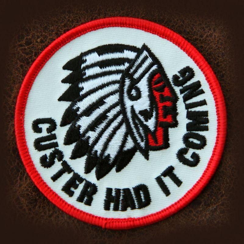 画像1: ワッペン インディアン CUSTER HAD IT COMING/Patch (1)