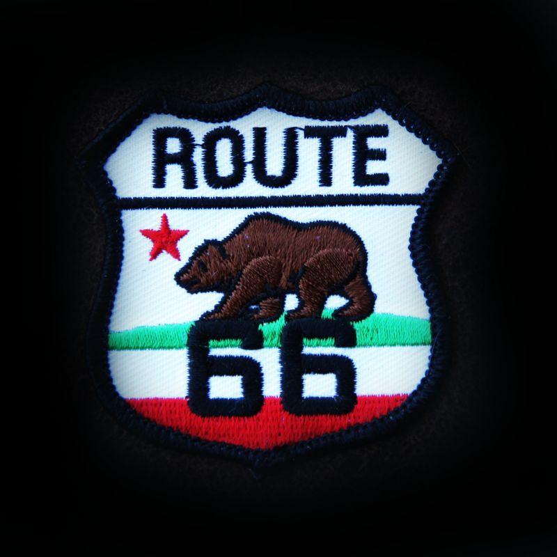 画像1: ワッペン ルート66 カリフォルニア グリズリー/Patch (1)