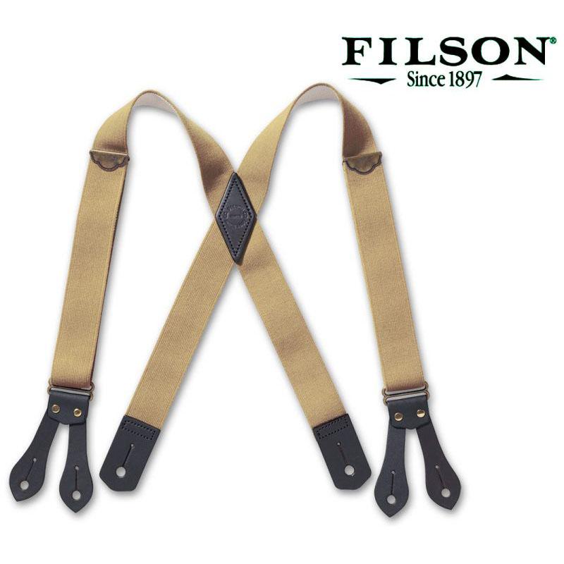 画像1: フィルソン タブ サスペンダー(ダークタン)/Filson Tab Suspenders(Dark Tan) (1)