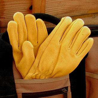 画像1: 鹿皮 手袋 アメリカンディアーレザー グローブ ナチュラルフィーリング パインイエロー/ Genuine American Deer Leather Gloves (1)