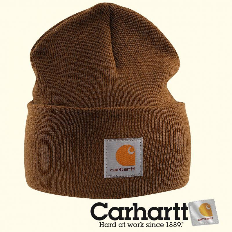 画像1: カーハート ウォッチ キャップ (ワッチ キャップ)カーハートブラウン/Carhartt Acrylic Watch Cap Carhartt Brown (1)