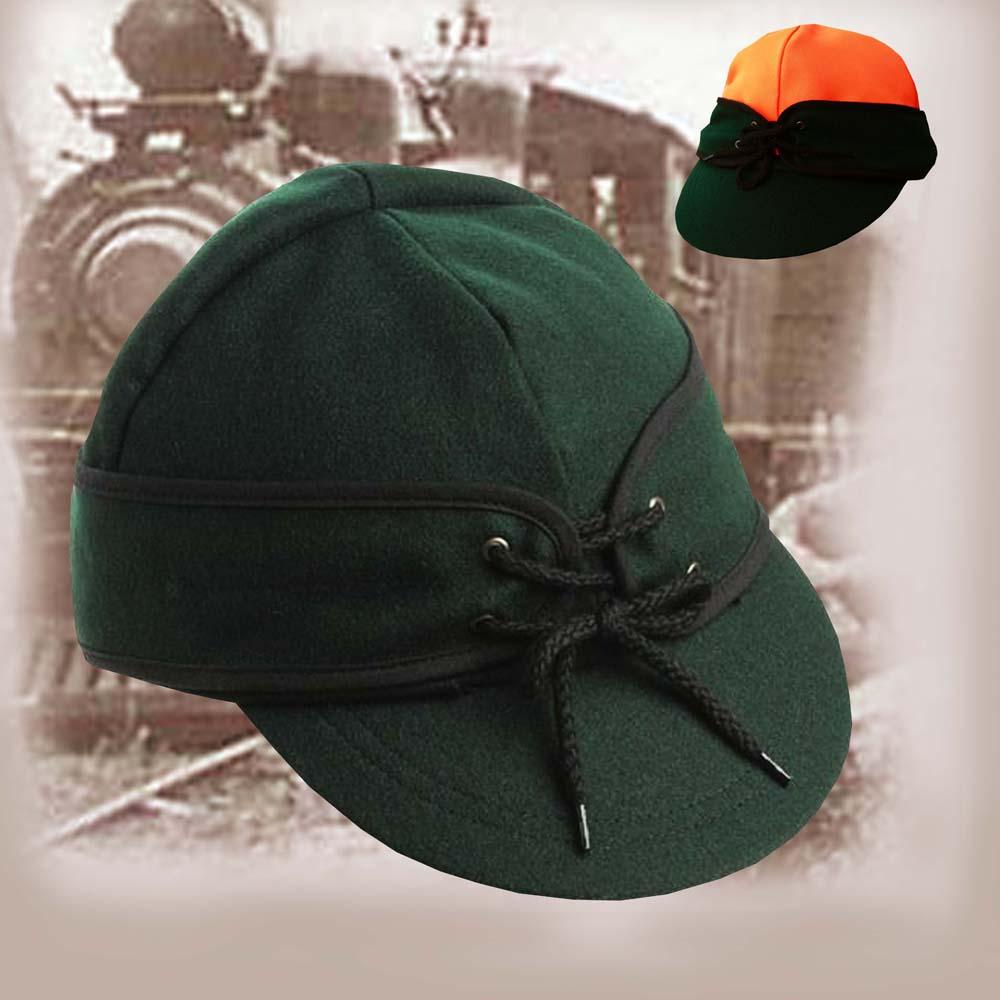 画像1: アメリカン レイルロード キャップ(リバーシブル グリーン/グリーン・オレンジ)/Railroad Cap(Green/Green Orange) (1)