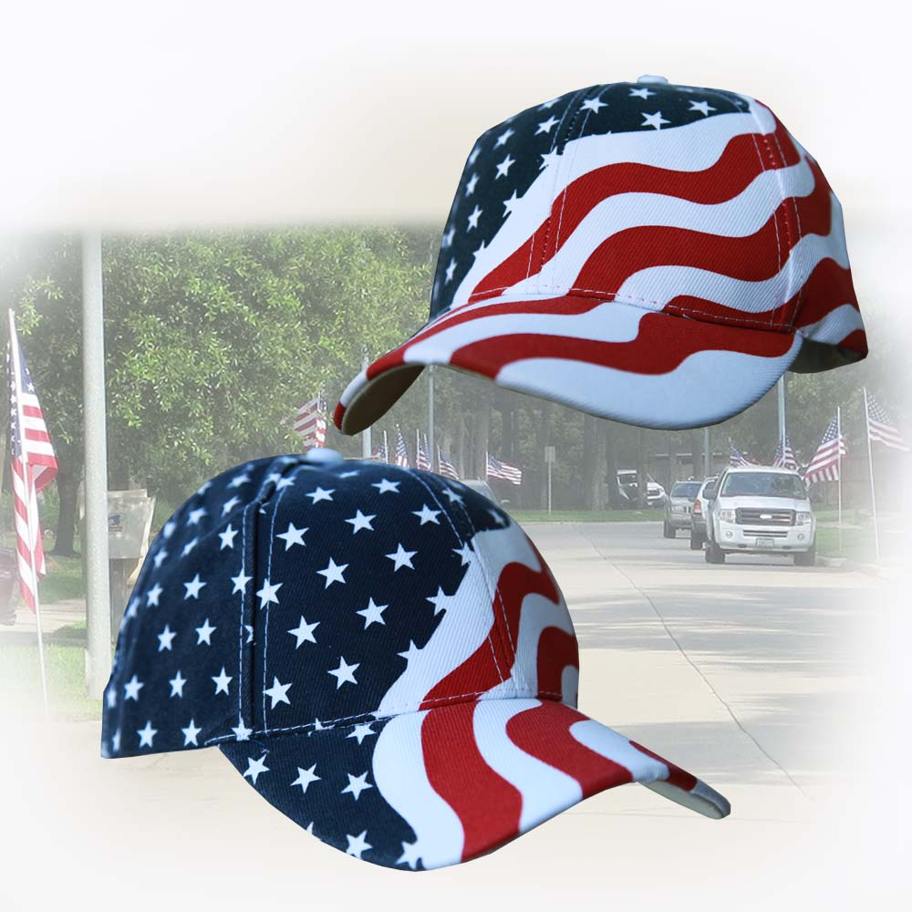 画像1: アメリカ国旗 星条旗 キャップ/Baseball Cap