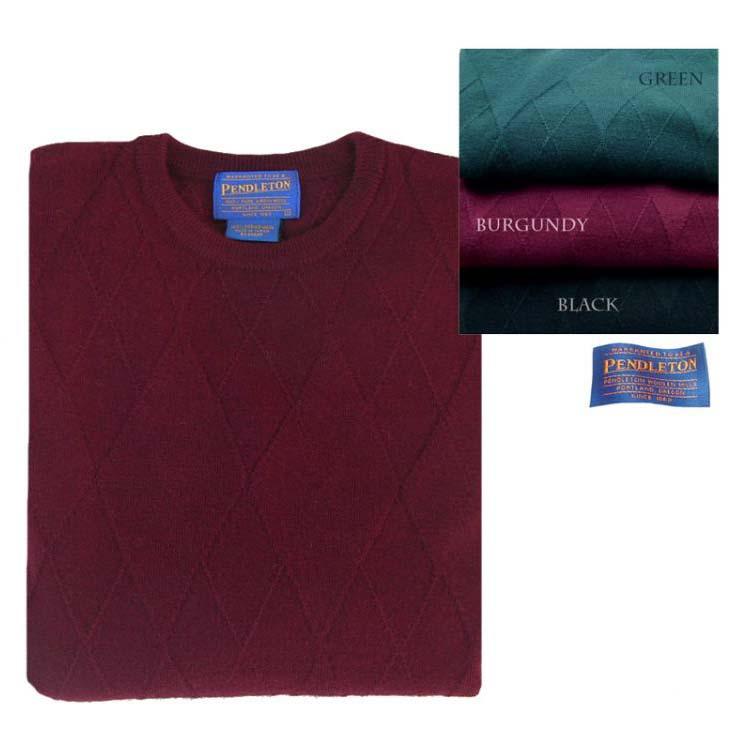 画像1: ペンドルトン クルーネック ウールセーター(バーガンディー)/Pendleton Crewneck Wool Sweater (1)