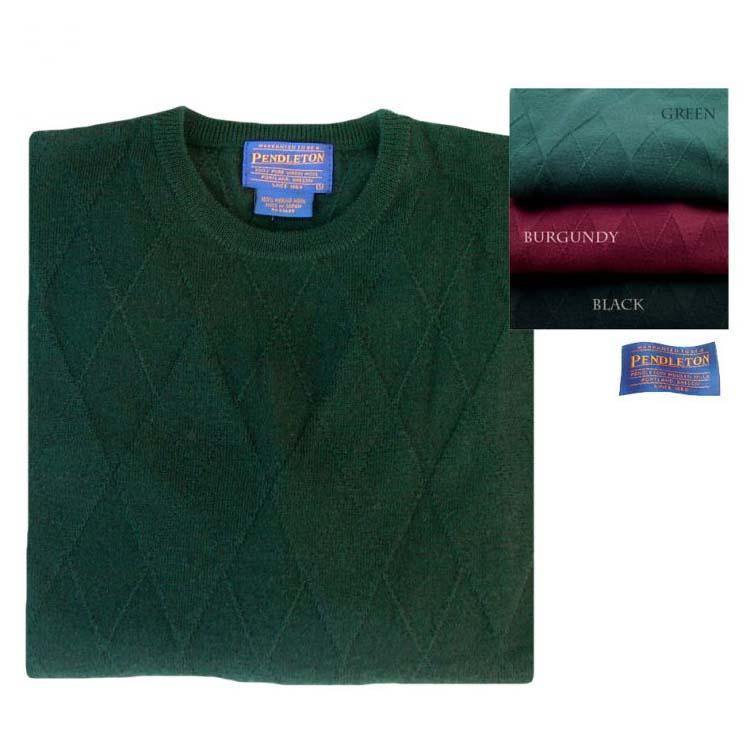 画像1: ペンドルトン クルーネック ウールセーター(グリーン)/Pendleton Crewneck Wool Sweater (1)