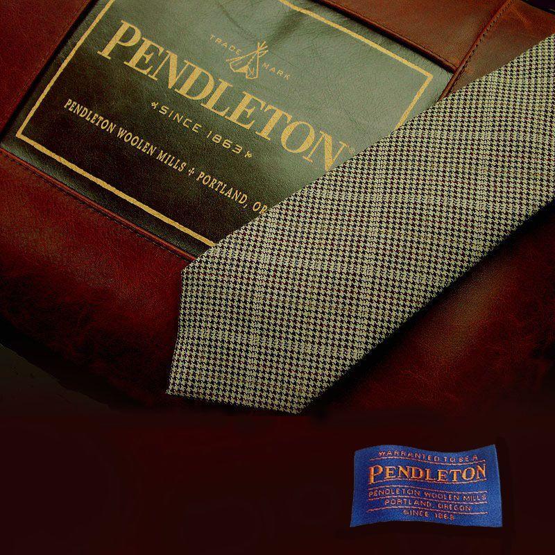 画像1: ペンドルトン ネクタイ(ライトブラウン)/Pendleton Necktie(Light brown) (1)