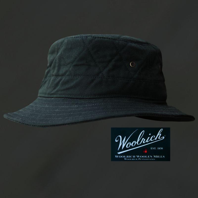 画像1: ウールリッチ オイルドコットン ハット(モスグリーン)/Woolrich Oiled Cotton Hat(Moss) (1)