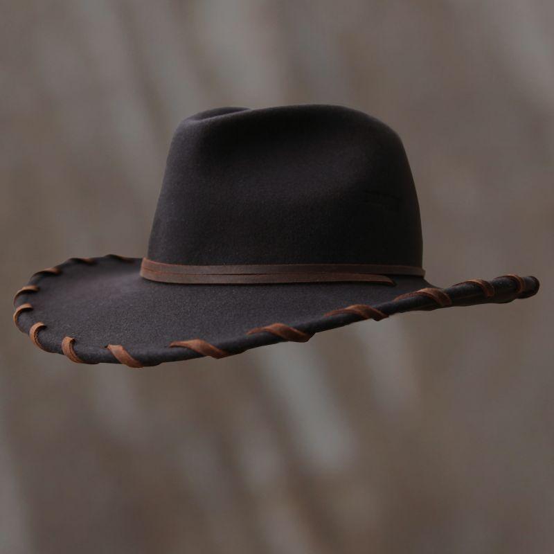 画像1: ベイリー ロウレザー&ウール カウボーイハット(ブラウン)/Bailey Cowboy Hat(Chocolate) (1)