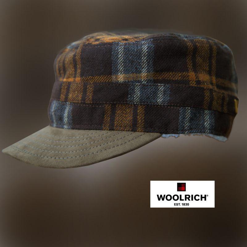 画像1: ウールリッチ ウール キャップ(ブラウン)/Woolrich Cap(Brown)