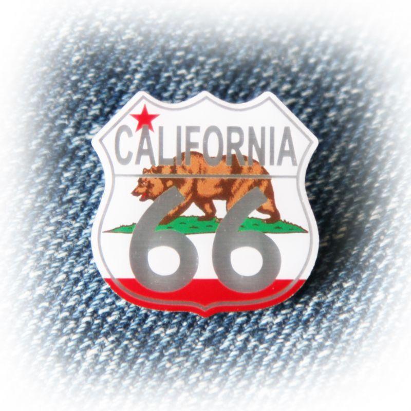 画像1: ルート66 ピンバッジ カリフォルニアステイト/Pin Route66 (1)