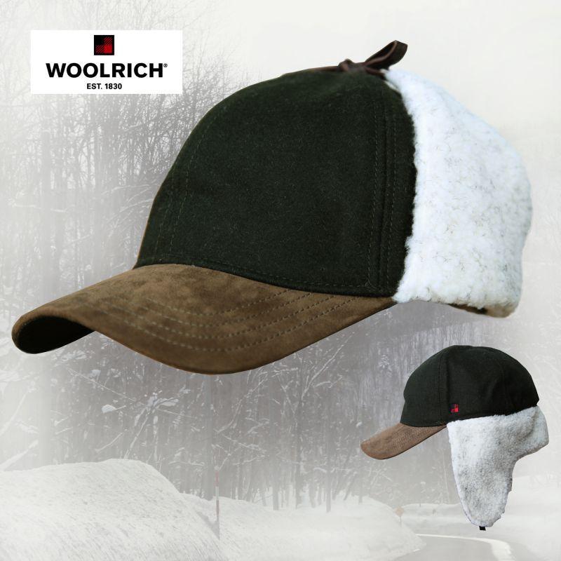 画像1: ウールリッチ ウール イアーフラップ キャップ(ダークオリーブ)/Woolrich Cap(Olive)