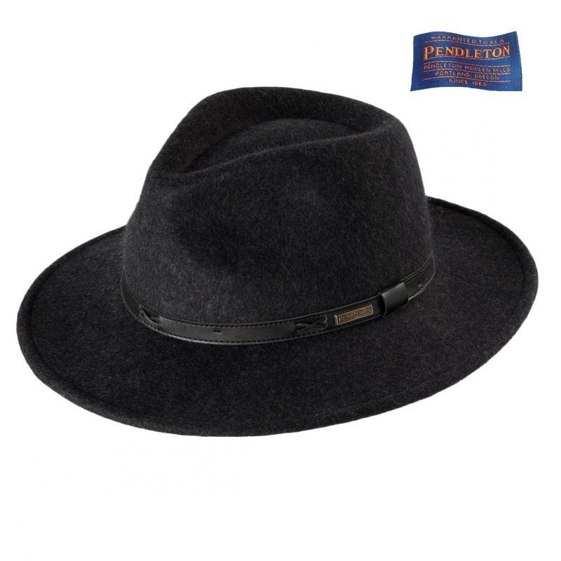 画像1: ペンドルトン インディ ハット(チャコール)/Pendleton Indy Hat(Charcoal Mix)
