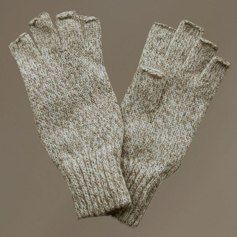 画像1: フィンガーレス ウールグローブ(オートミール)/Fingerless Wool Gloves