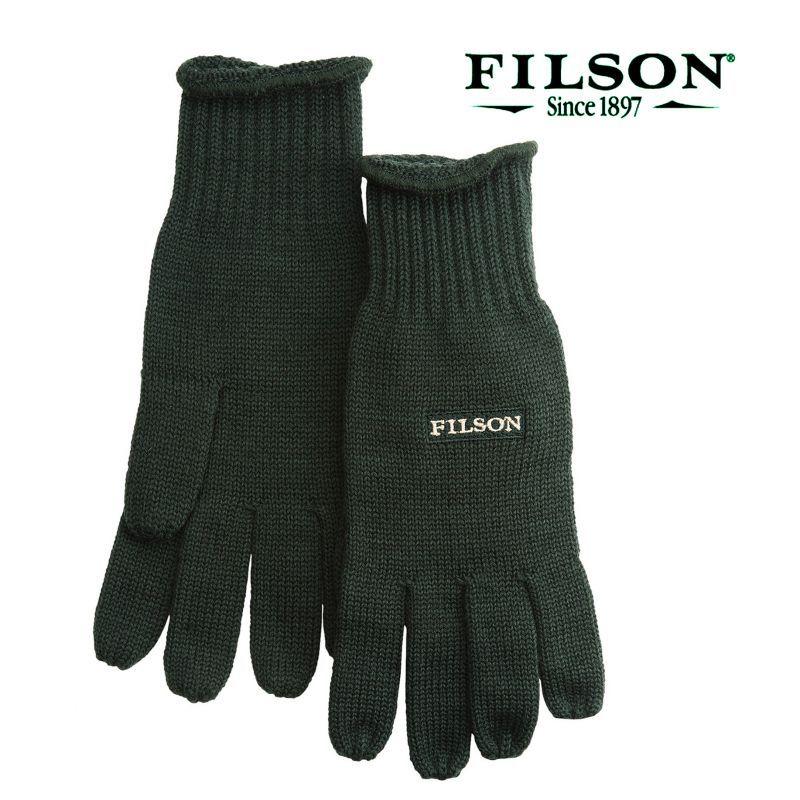 画像1: フィルソン メリノウール グローブ(フォレストグリーン)/Filson Merino Wool Gloves (1)