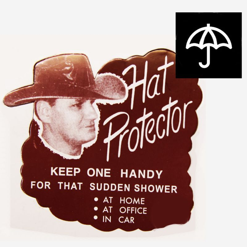 画像1: ハット レイン カバー 雨の日のハットプロテクター/Vinyl  Hat Protector (1)