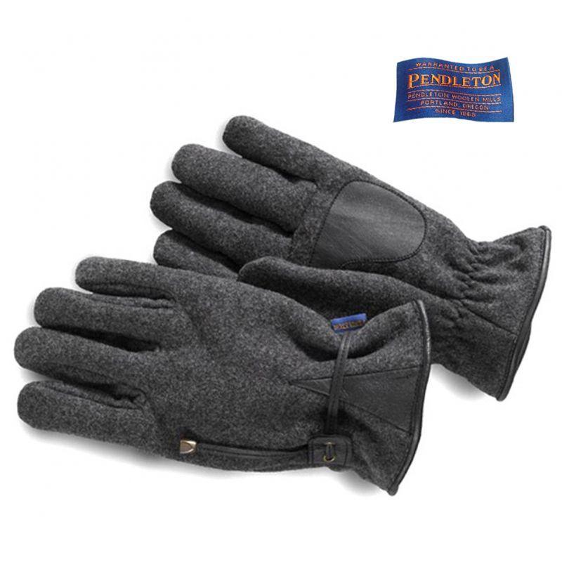 画像1: ペンドルトン ウール・レザーグローブ(手袋)・グレー/Pendleton Wool Gloves (1)