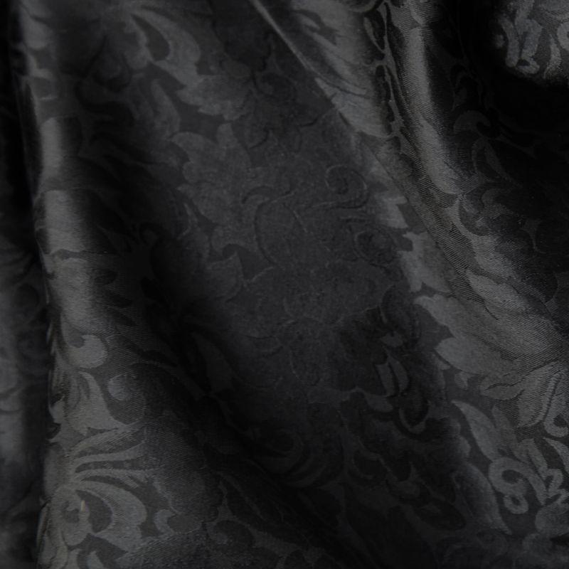 画像1: ワイルドラグ(カウボーイ大判スカーフ)ブラック/100% Silk Wild Rags