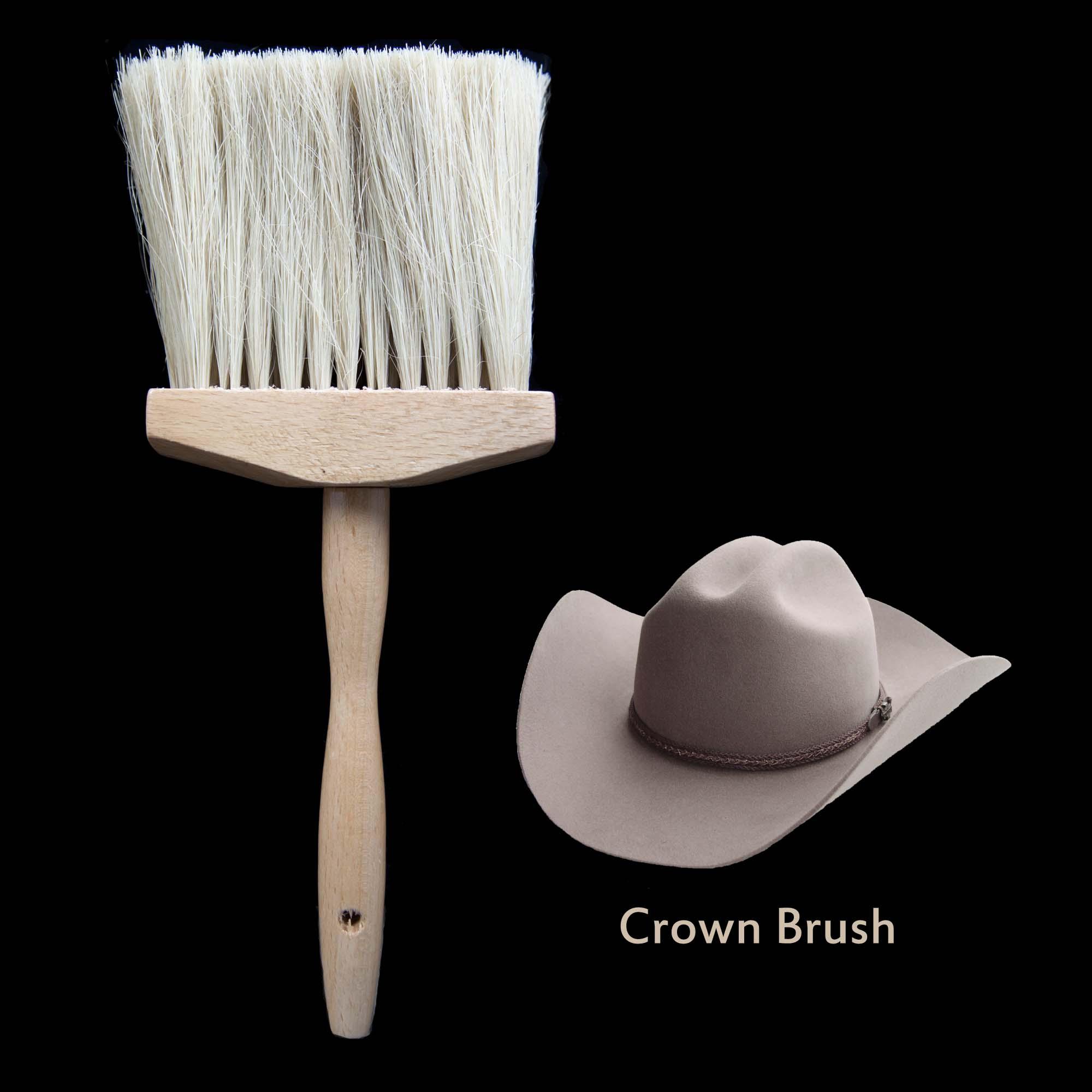 画像1: ハット用 ブラシ クラウンブラシ(ナチュラル)/Hat Brush (1)