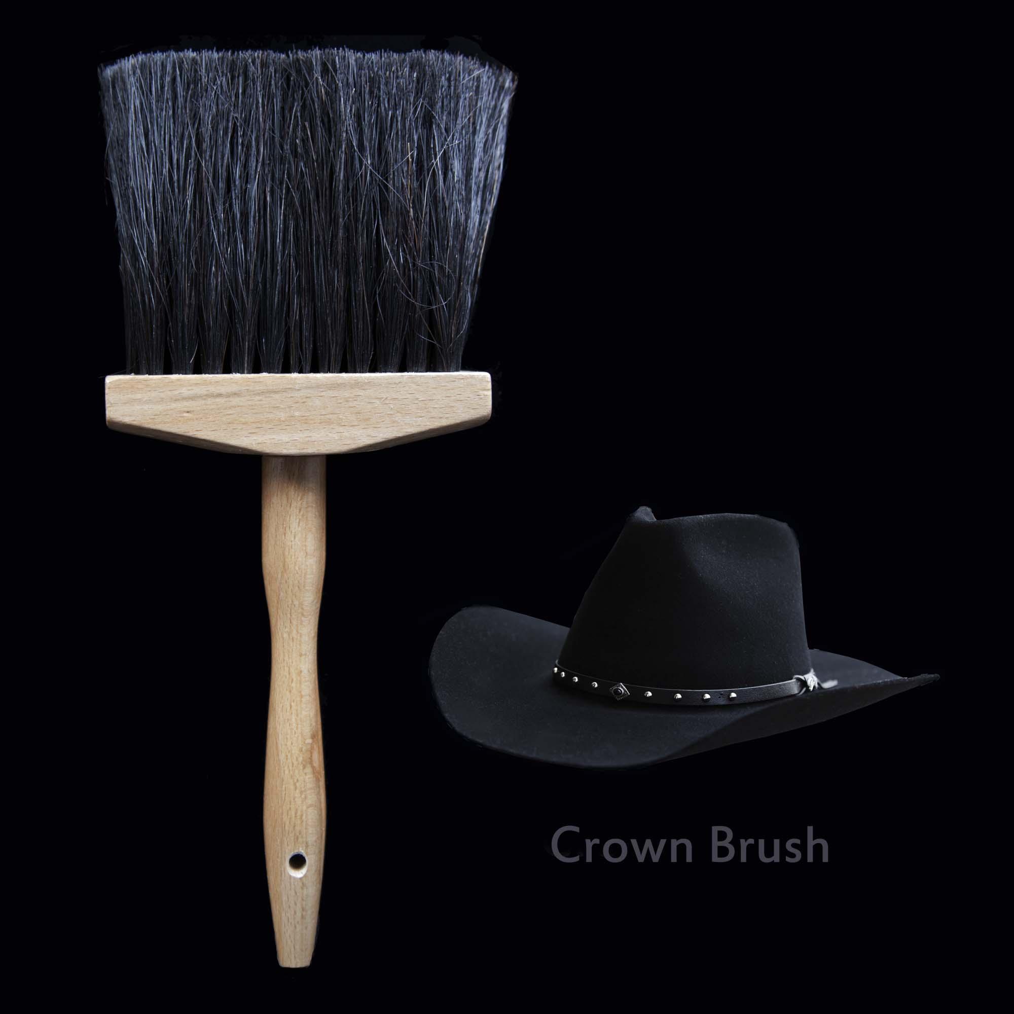 画像1: ハット用 ブラシ クラウンブラシ(ブラック)/Hat Brush (1)