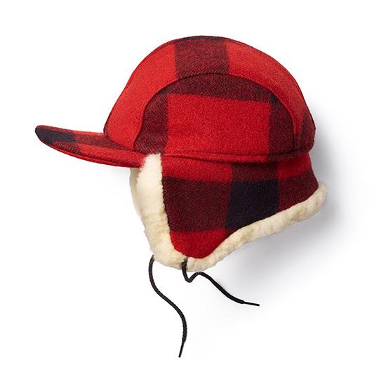 画像2: フィルソン ダブルマッキーノ キャップ(レッド×ブラック)/Filson Double Mackinaw Cap(Red×Black)