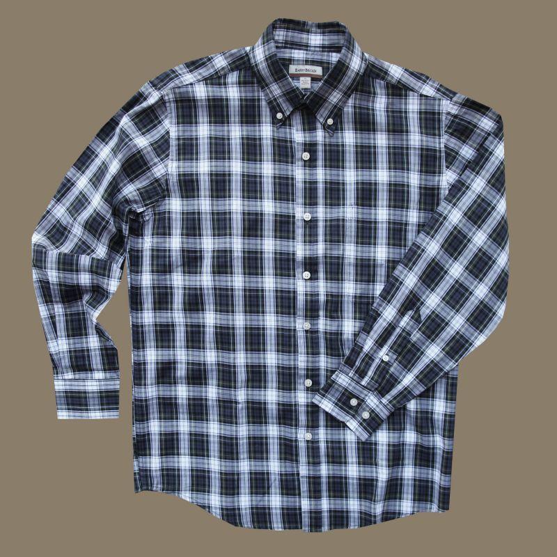 画像1: バリーブリッケン ボタンダウン シャツ ネイビー(長袖)/Barry Bricken Long Sleeve Shirt (1)