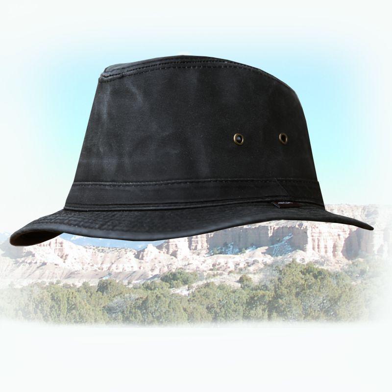 画像1: サファリ(サハリ)ハット・ブラックL/Safari Hat (1)