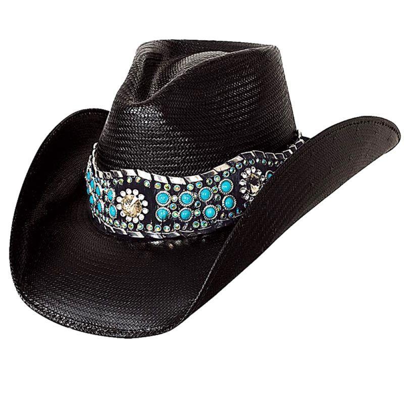 画像1: ブルハイド ウェスタンストローハット(オウン ザ ナイト)/BULLHIDE Western Straw Hat OWN THE NIGHT(Black) (1)