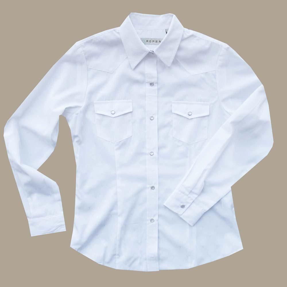 画像1: ウエスタンシャツ ホワイト(長袖)/Long Sleeve Western Shirt(Women's)
