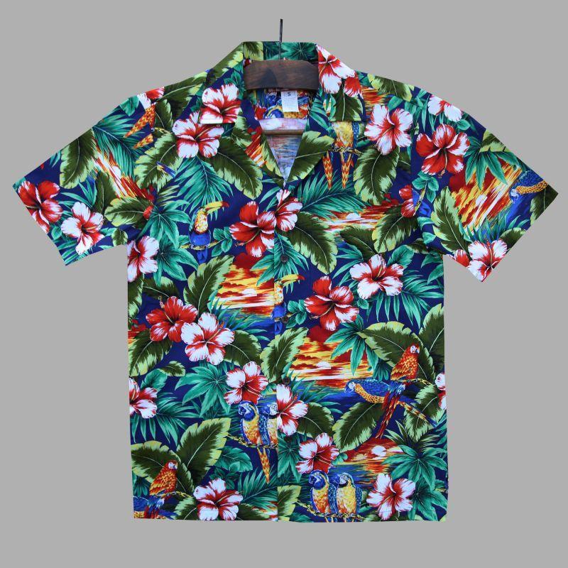 画像1: アロハシャツ トロピカルアイランドS/Aloha shirt