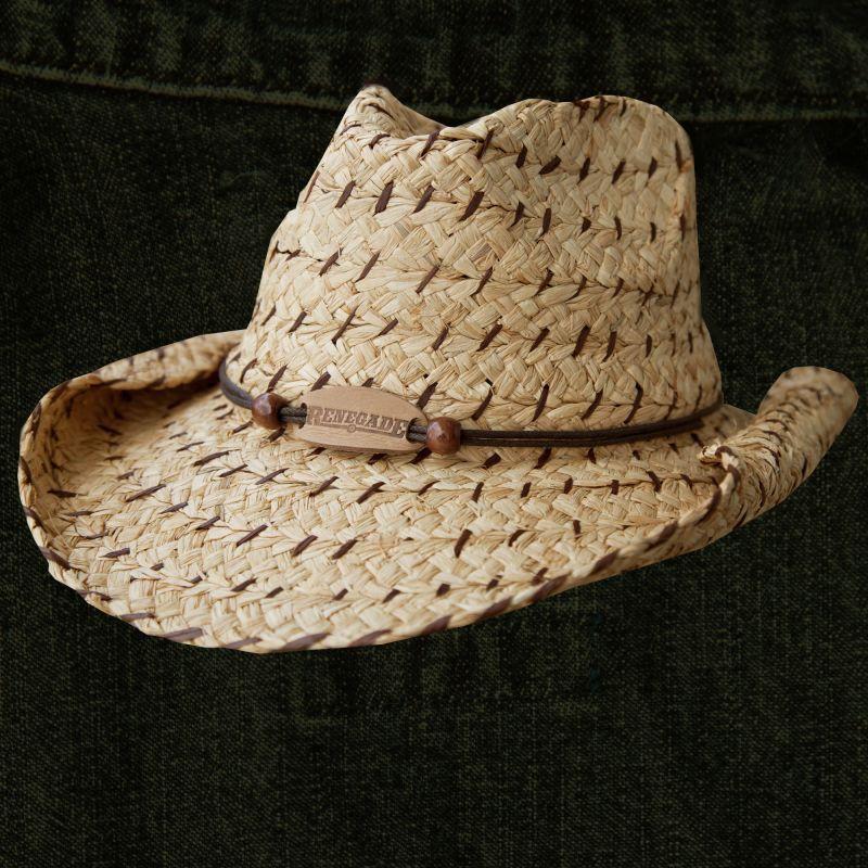 画像1: アウトドア ストロー カウボーイ ハット/Western Straw Hat