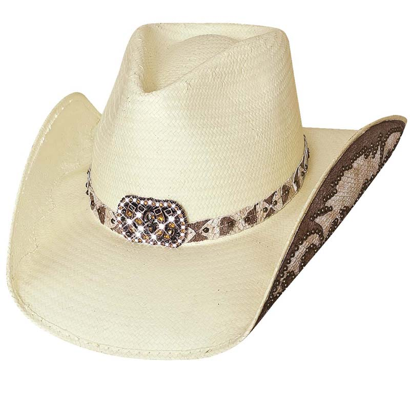 画像1: ブルハイド ウェスタンストローハット(カウガールファンタジー・ナチュラル)/BULLHIDE Western Straw Hat Cowgirl Fantasy(Natural)