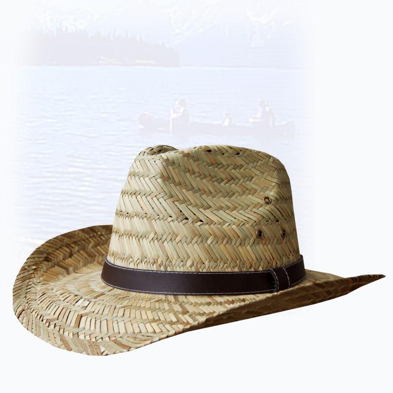 画像1: アウトドア ストロー ハット(ナチュラル)/Western Straw Hat