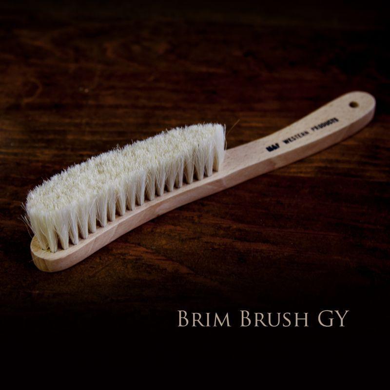 画像1: ハット用 ブラシ ブリムブラシ(ナチュラル)/Hat Brush Brim Brush Grey (1)