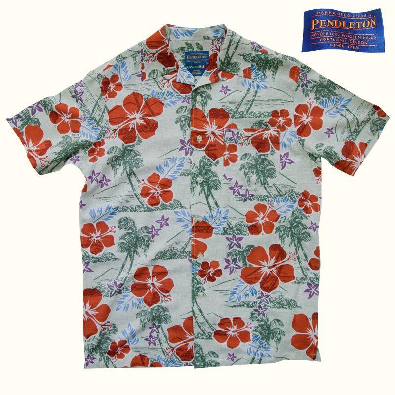 画像1: ペンドルトン リゾート シャツ(半袖・ビンテージハワイアン)/Pendleton Short Sleeve Shirt