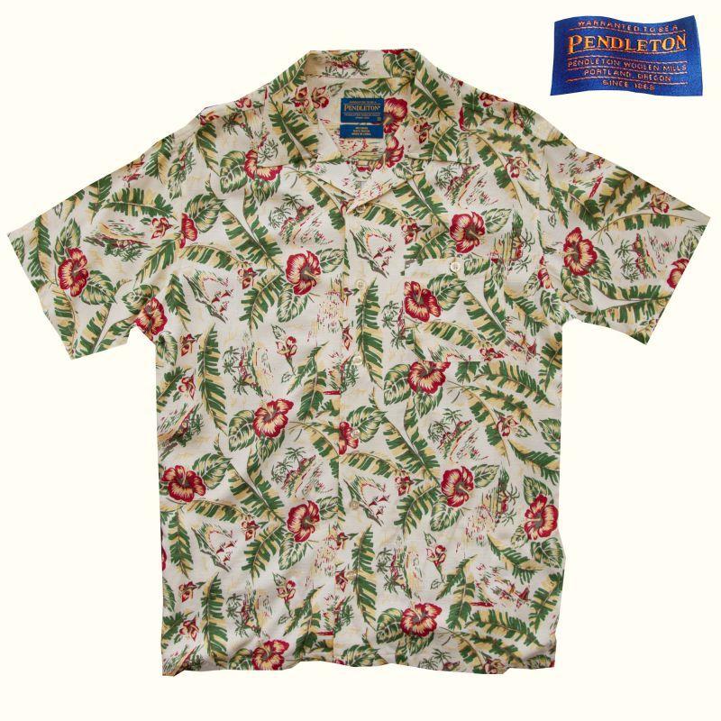 画像1: ペンドルトン リゾート シャツ(半袖・ハイビスカスフローラル)/Pendleton Short Sleeve Shirt (1)
