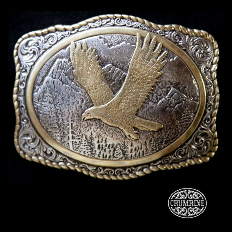 画像1: クラムライン アウトドア ベルト バックル イーグル/Crumrine Belt Buckle Eagle (1)