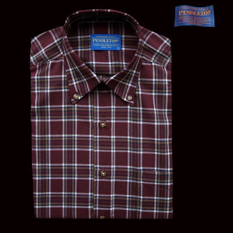 画像1: ペンドルトン サーペンドルトン ウールシャツ(バーガンディー・タン)S/Pendleton Sir Pendleton Wool Shirt