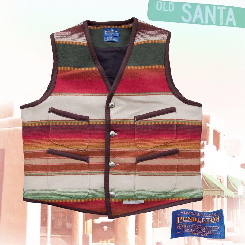 画像1: ペンドルトン サンタフェ ストライプ ベスト(タン)/Pendleton Santa Fe Stripe Vest (1)