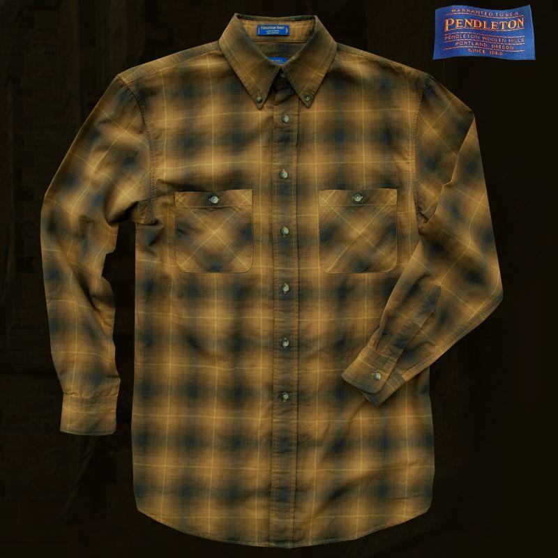 画像1: ペンドルトン ダブルフェイス コットンシャツ ブロンズ(長袖)L/Pendleton Long Sleeve Double Face Shirt