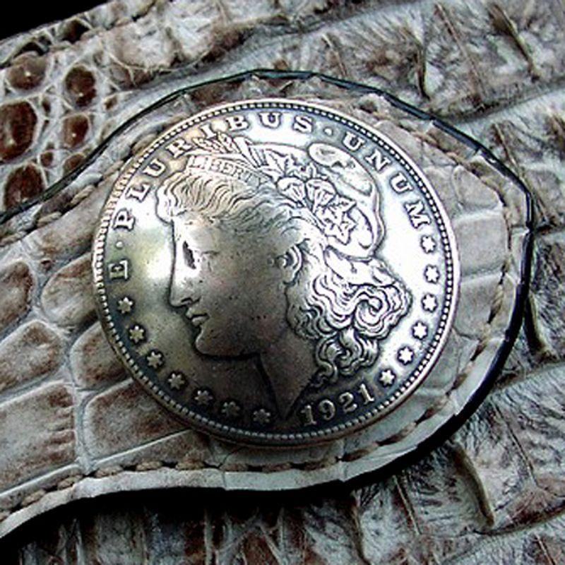 画像1: 1$モーガンフェイスコインコンチョ/1$MORGAN FACE COIN CONCHO・37mm (1)