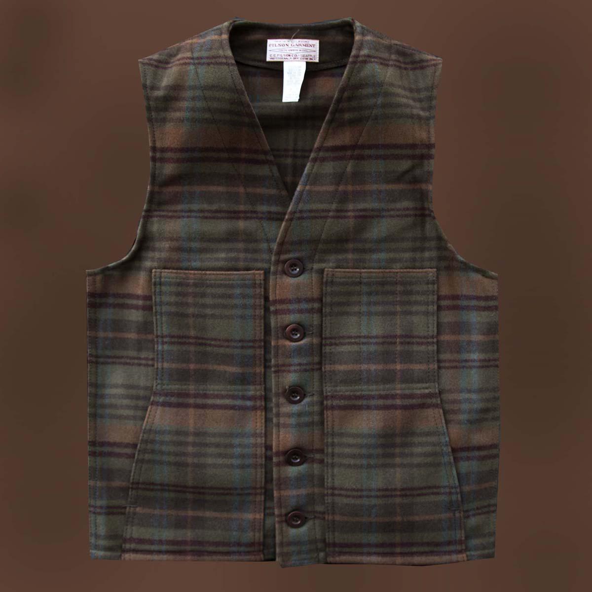 画像1: フィルソン マッキーノ ウールベスト(ホーソンプラッド)/Filson Mackinaw Wool Vest (1)