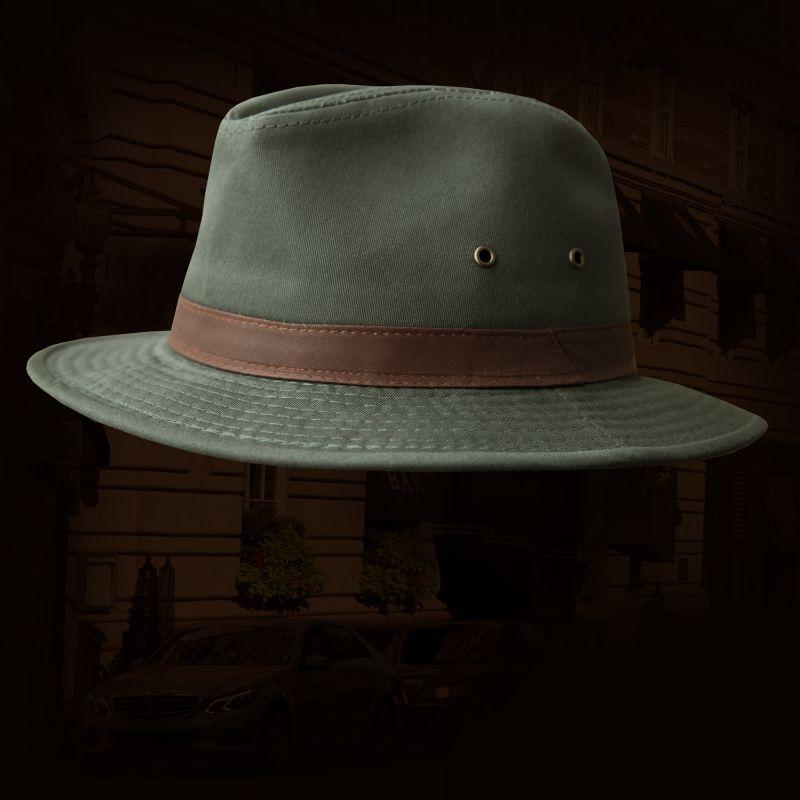画像1: サファリ(サハリ)ハット・オリーブ/Safari Hat (1)
