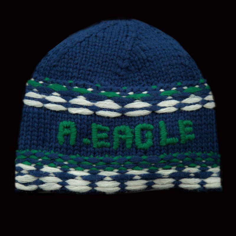 画像1: アメリカン イーグル アウトフィッターズ ニット帽 ネイビー/American Eagle Outfitters Knit Cap