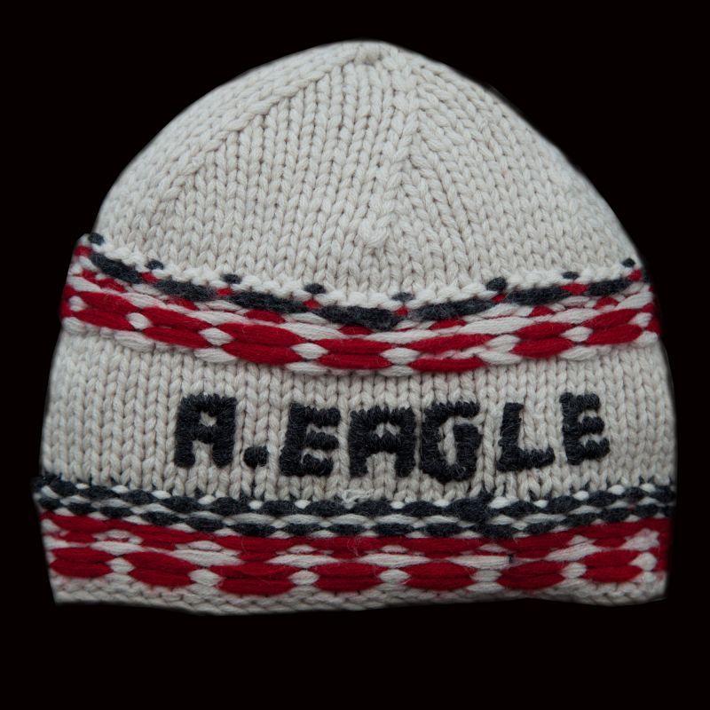 画像1: アメリカン イーグル アウトフィッターズ ニット帽 オフホワイト/American Eagle Outfitters Knit Cap