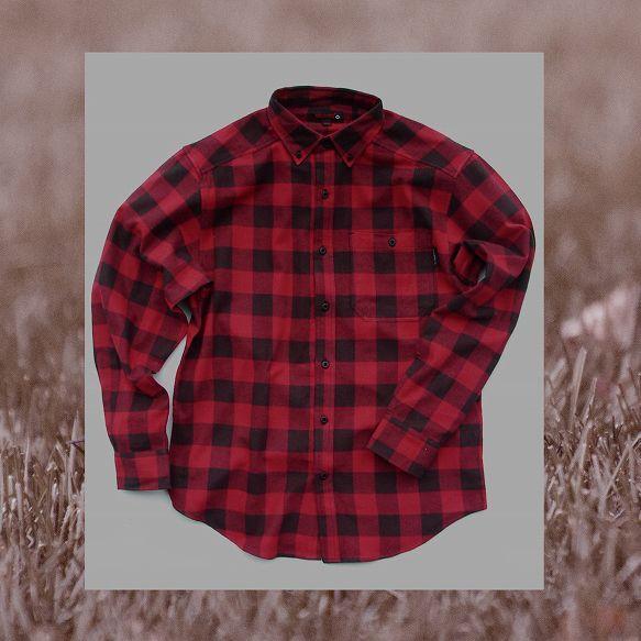 画像1: バッファローチェック フランネルシャツ(レッド ブラック プラッド・長袖)/Flannel Shirt(Red Black Plaid)