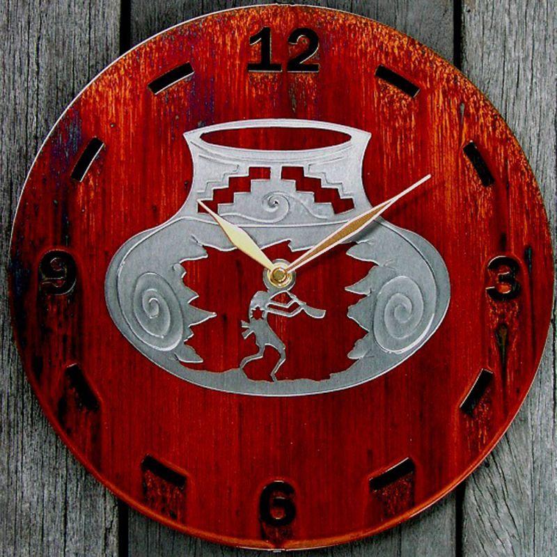 画像1: ココペリ メタルウォールクロック(壁掛け時計)/Kokopelli Metal  Art Wall Clock (1)