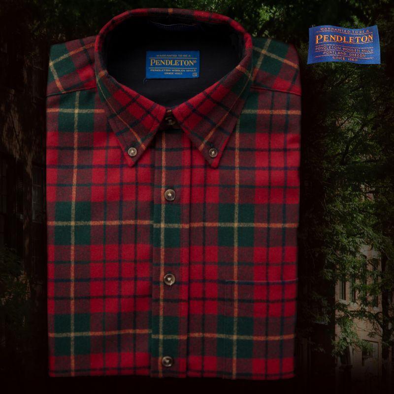 画像1: ペンドルトン ウール シャツ・ファイアーサイドシャツ/Pendleton Fireside Shirt (Pendleton Red Tartan) (1)