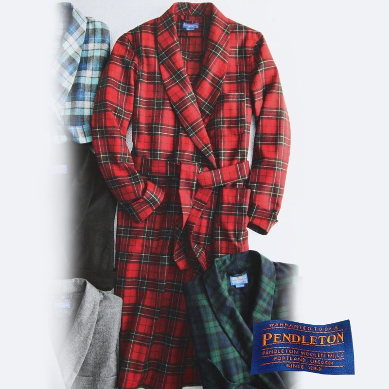画像2: ペンドルトン ガウン/Pendleton Washable Whisper Wool Robe Brodie Tartan