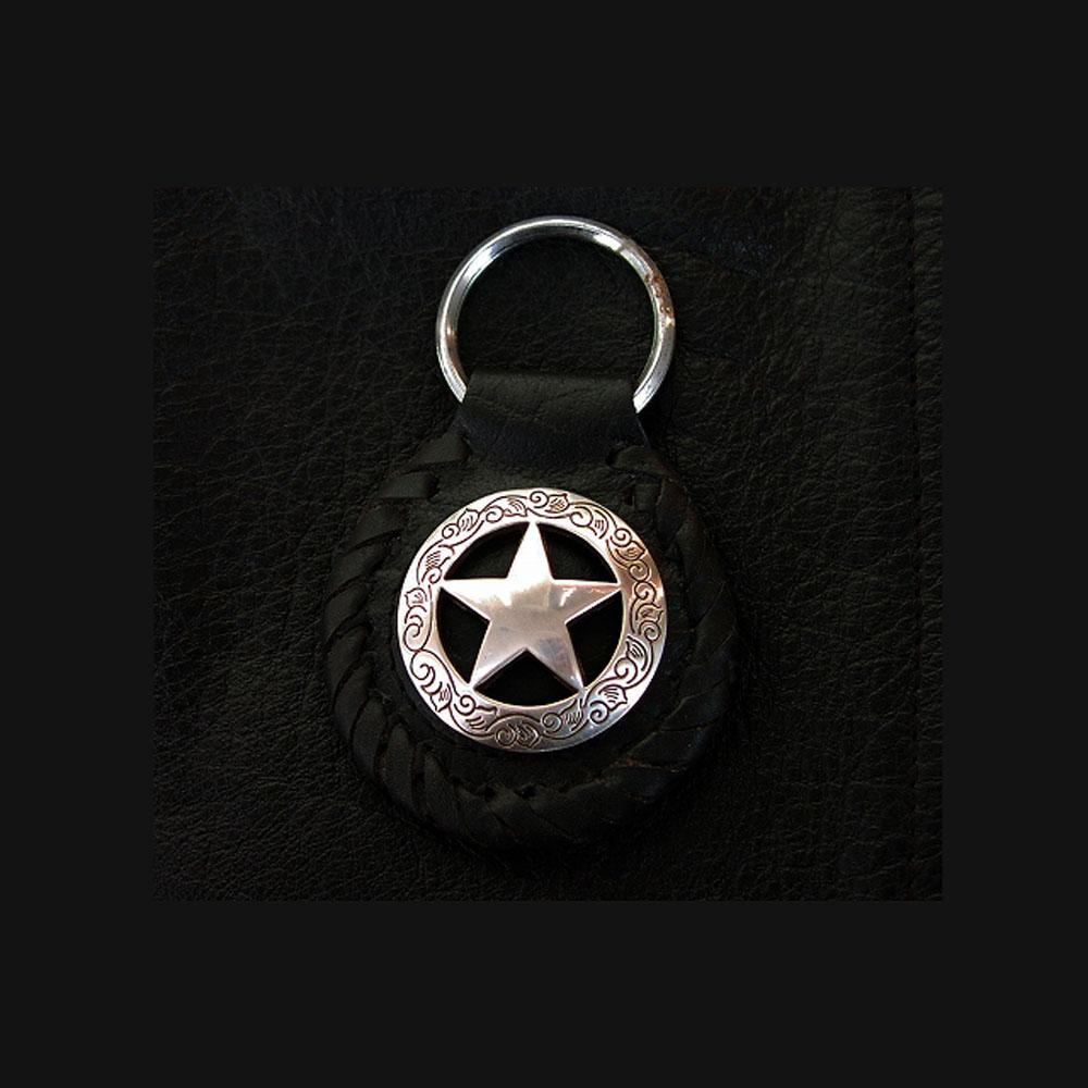 画像1: レザーキーホルダー(ブラック)/ Leather Key Fob(Black) (1)